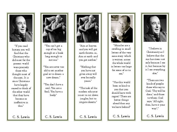 cs lewis bookmarks