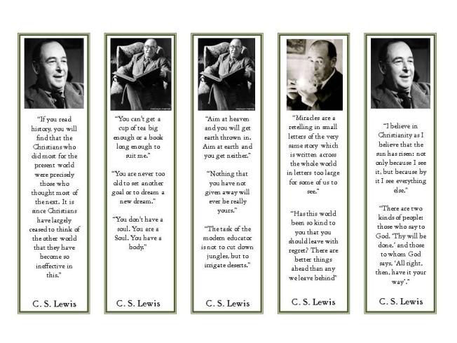 cs lewis bookmarks