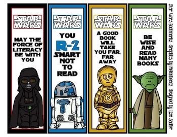 Handy image regarding star wars bookmarks printable